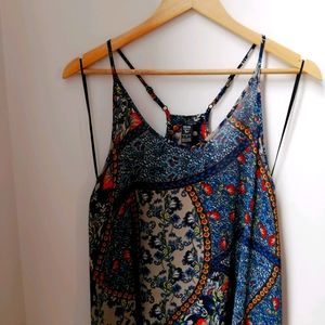 It's Me Brand Sheer Floral Print Breezy Mini Dress